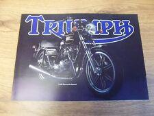 NEW TRIUMPH SALES BROCHURE POSTER T140D BONNEVILLE SPECIAL 1980 - TRI-SB-80D