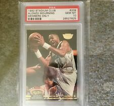 ALONZO MOURNING 1992 Stadium Club Members Only ROOKIE #209 PSA 10 GEM MINT