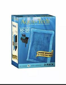 Aqua-Tech EZ-Change No.2 2-Pack Aquarium Filter Cartridge for 10 to 20 Power ...