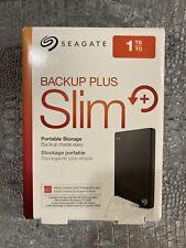 Seagate Backup Plus Slim 1000GB External Hard Drive - Black