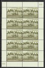 AUSTRALIA 2018 FIRST CRICKET TOUR TO ENGLAND 1868 ABORIGINAL XI Sheet of 10 MNH