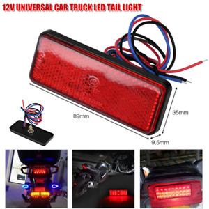 12V Vehicle Modified Red LED Tail Brake Stop Light Indicator Reflector Universal