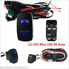 40A SUV ATV JEEP LED Light Bar ON/OFF Rocker Switch Wiring Harness Relay Fuse