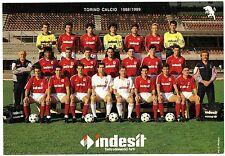 Cartoncino Squadra Torino Calcio 1988/89 cm 16,8 x 24 (Retro Autografi Stampati)