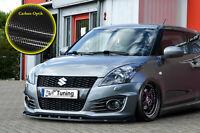 Frontspoiler Spoilerschwert aus ABS für Suzuki Swift Sport FZ/NZ Carbon Optik