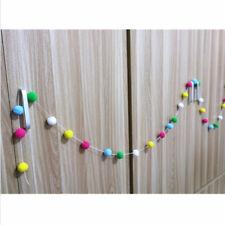 30PCS Handmade Wool Felt Balls Pompom Garland String Props Home Hanging Decor