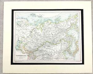 1899 Antique Map of Asia Mongolia Yakutsk Siberia 19th Century Original