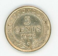 1903 Newfoundland Five Cents Silver Coin