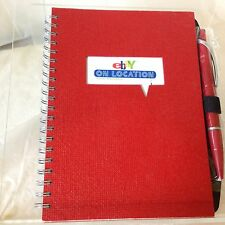 eBay On Location Red 5x7 Spiral Blank Journal Notepad w/Pen Ebayana NEW USA Made