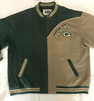 Vintage Green Bay Packers Lee Sport NFL Denim Varsity Jacket Size XXL Official