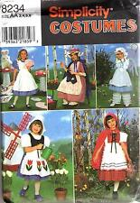 Simplicity 8234 Costume Sewing PATTERN FOR Children Sizes 3-4-5-6
