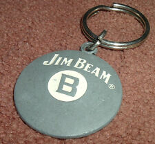 Jim Beam B Whiskey Promo Metal Keychain Keyring Pool Ball Billard Grey Silver