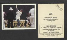 AUSTRALIA 1982 SCANLENS CRICKET STICKERS SERIES I - DAVID GOWER # 35