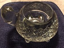 Vtg Avon Candle Tealight Votive Sparkling Turtle Thick Detail Glass 1978-79
