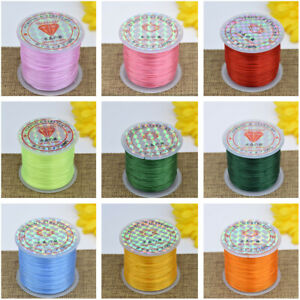 65 Yard Strong Stretchy Elastic String Cord Thread For Diy Bracelet Necklace US