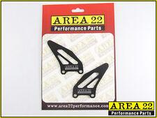 Zona 22 Rendimiento Trasero Juego de recambio Talón Protector Placas Negro Par