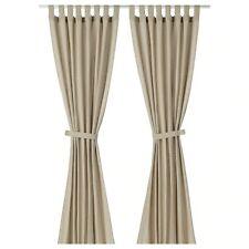 Ikea Lenda Curtains with tie-backs, 1 pair Light Beige Lenda 140x250 cm