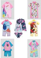 Girls Sun Protection Swimwear UV Sunsafe Surfsuits All Sizes Disney NEW BNWT