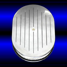 SBC Air Cleaner Aluminum Polished with Ball Milled Top for Small Block Chevy