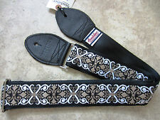 SOULDIER Guitar Strap CONSTANTINE Black White Taupe Vintage Style Woven Tapestry