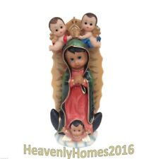 Virgen De Guadalupe con Angeles / Virgin Mary/W Angels STATUE 12 Inch 6336A-12