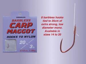 Drennan New Generation Spade Ends To Nylon Size 16 To 3lb 8oz Carp Maggot
