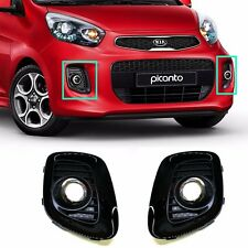 Projection Type Fog Lamp Cover LH RH Set For OEM Parts Kia 2015- Picanto Morning