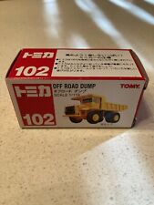 Tomy China # 102 Yellow Off Road Dump 1/119 Scale Truck New In Box Nice