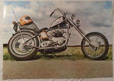 Motorcycle Chopper 1972 Poster Orange Helmet New Condition