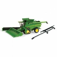 NEW John Deere S690 Tracked Combine w/corn head, platform, & header cart, 1/64