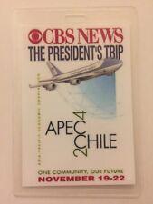 2004 President George W. Bush CBS News Press Pass Trip to Chile APEC