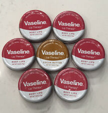 7x Vaseline Lip Therapy Rosy Cocoa butter 0.6oz Tin Lot Sealed