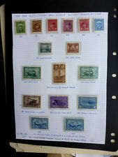 CANADA 1942-8 WAR ISSUE FULL SET + AIRMAIL ALBUM PAGE MINT OG CAT.$210 S.G. #'S