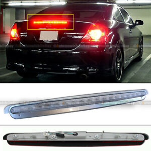 Fit 05-10 tC Chrome Housing Full LED 3rd Third Rear Stop Brake Tail Light Lamp