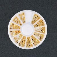 DIY Mixed Gold Color Decals 3D Rhinestone DIY Nail Beauty Decor Stickers Ar D4B4