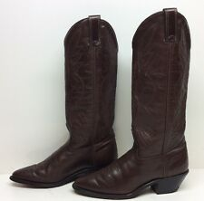 VTG WOMENS LAREDO COWBOY LEATHER BROWN BOOTS SIZE 6 M