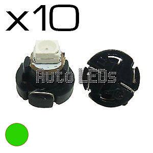 10 Green SMD LED T4.2 Neo Wedge 12v Interior LED Bulb