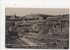 Absaloms Pillar Tombs Of James & Zachariah Valley of Josafat RP Postcard 330b