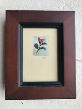 Real Dried Mini Rose in Frame Mourning New England Handmade Flower Pressing Tags