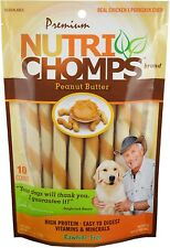 2 Bags Scott Pet Nutri Pork Chomps PEANUT BUTTER Flavor Twists DOG Treat 20ct
