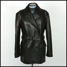 Haut femme vintage années 80 boutonnage double cuir trench Pea Manteau oversized 12/14/16
