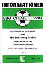 DDR-Liga 87/88 BSG Chemie Leipzig-BSG Sajonia anillo Zwickau, 29.05.1988