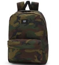 NWT VANS OLD SKOOL III BACKPACK Travel Gym School Bag GREEN CAMO Laptop Sleeve