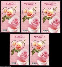 Taiwan 2012 MNH SS lot, Odd Unusual Love Shape, Rose fragrance, Scented, Flowers