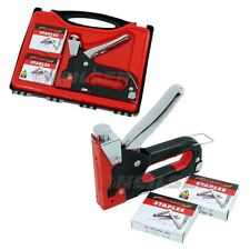 Heavy Duty Staple Gun 3 In 1 Stapler Tacker With 600 Staples Upholstery