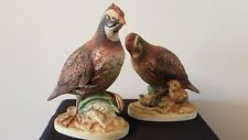Male & Female Matching Bob White Quail Figurines Andrea by Sadek