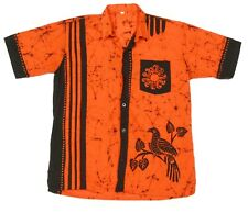 TIKI SUN BIRD Retro Hawaiian Shirt Boys Youth Shirt size 16 Orange Surf / 532