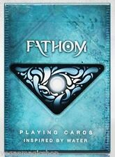 Fathom Deck Playing Cards Poker Size USPCC Custom Water Limited New Ellusionist