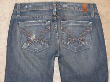 Peoples Liberation Bella Bootcut Jeans Sz 27 Low Waist Star Pocs Distressed