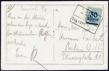 3166 GERMANY RPO POSTCARD 1923 INFLATION RAILWAY CANCEL ZUG 1370